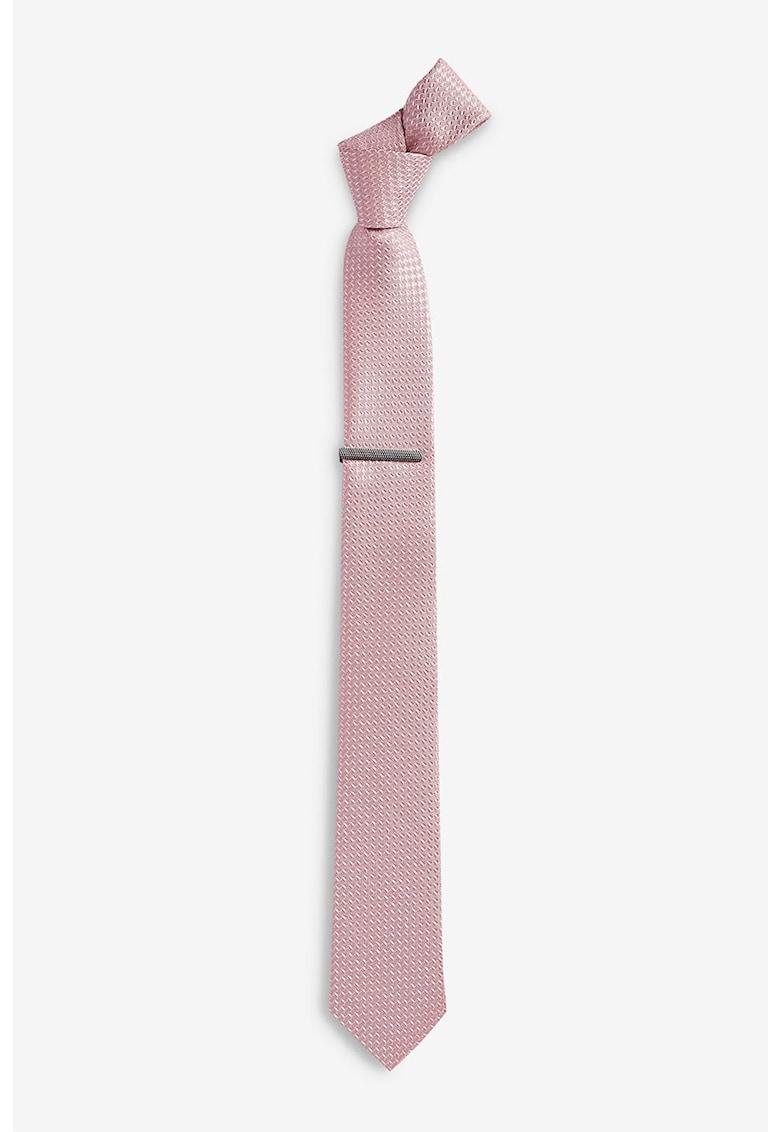 Set de cravata texturata si ac pentru cravata
