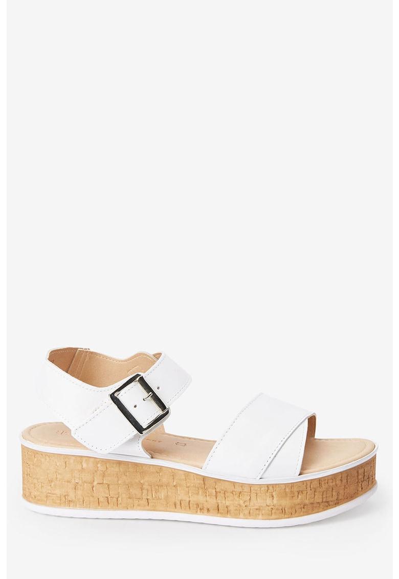 NEXT Sandale wedge de piele