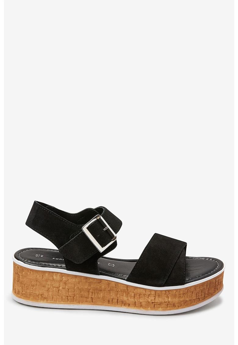 Sandale de piele cu platforma de la NEXT