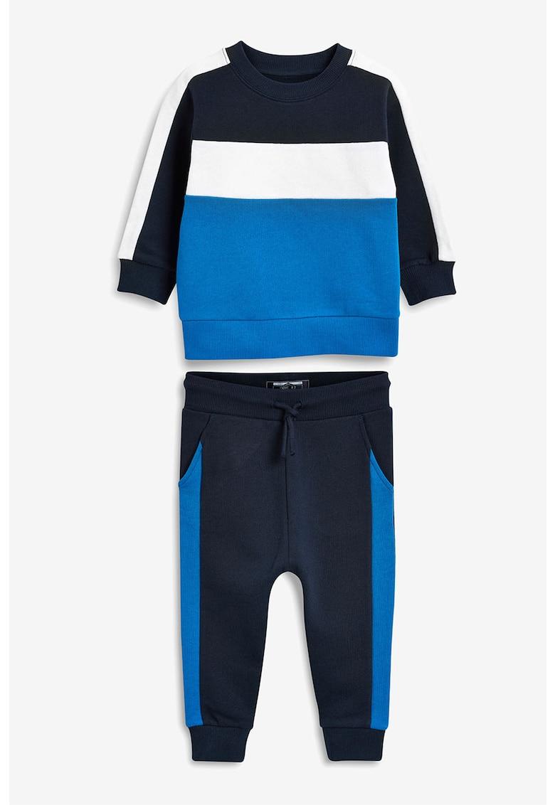 NEXT Set de bluza sport cu model colorblock si pantaloni sport
