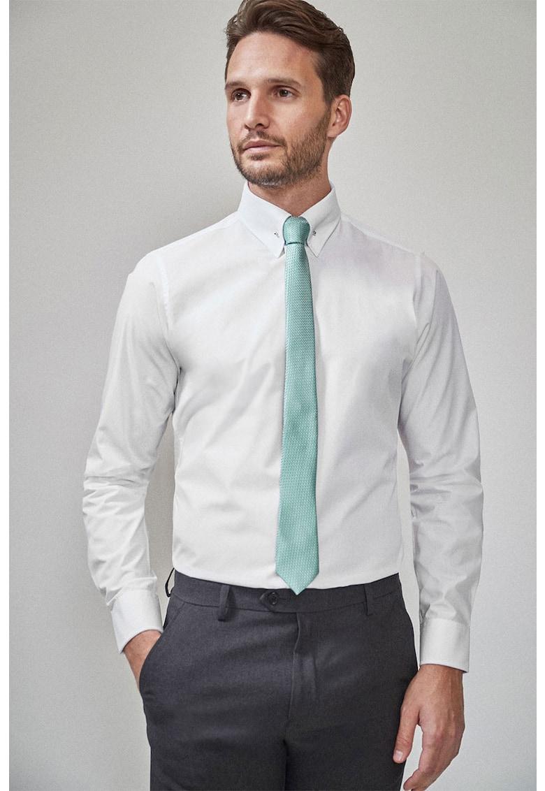 NEXT Camasa slim fit cu guler fixat si cravata