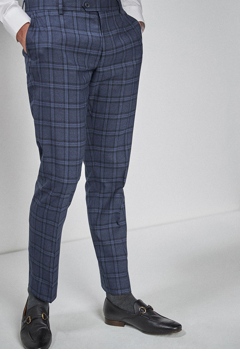 Pantaloni eleganti slim fit in carouri NEXT