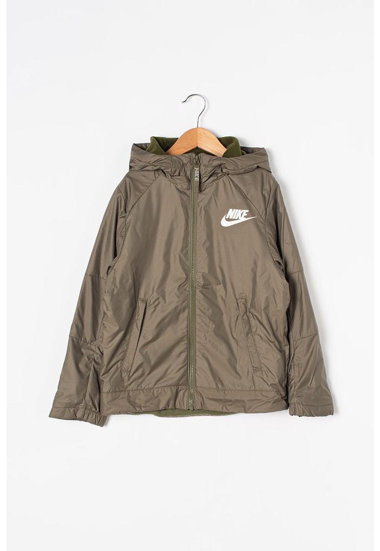 Jacheta cu gluga si captuseala din fleece Nike