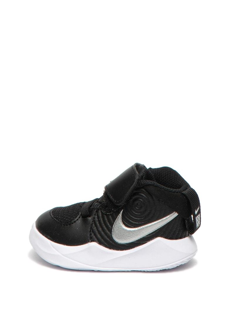 Pantofi sport de piele cu insertii de plasa Team Hustle Nike