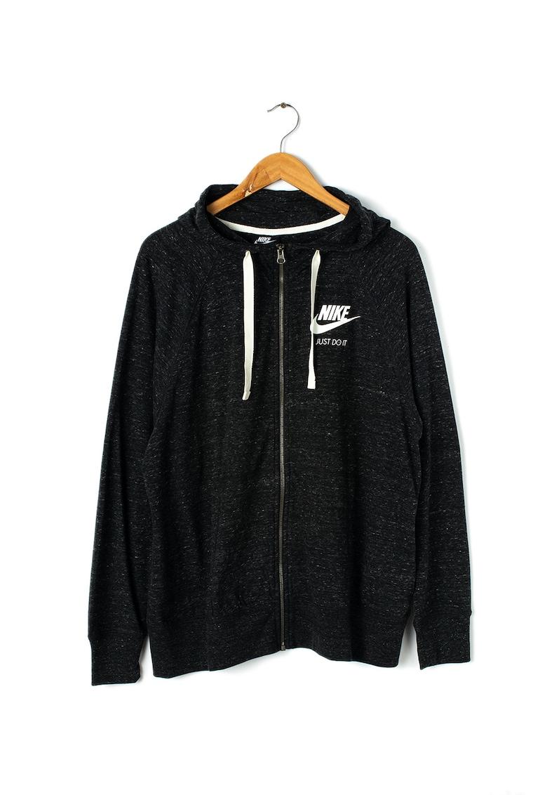 Nike Hanorac cu fermoar si aplicatie logo Plus Size NSW Gym Vintage