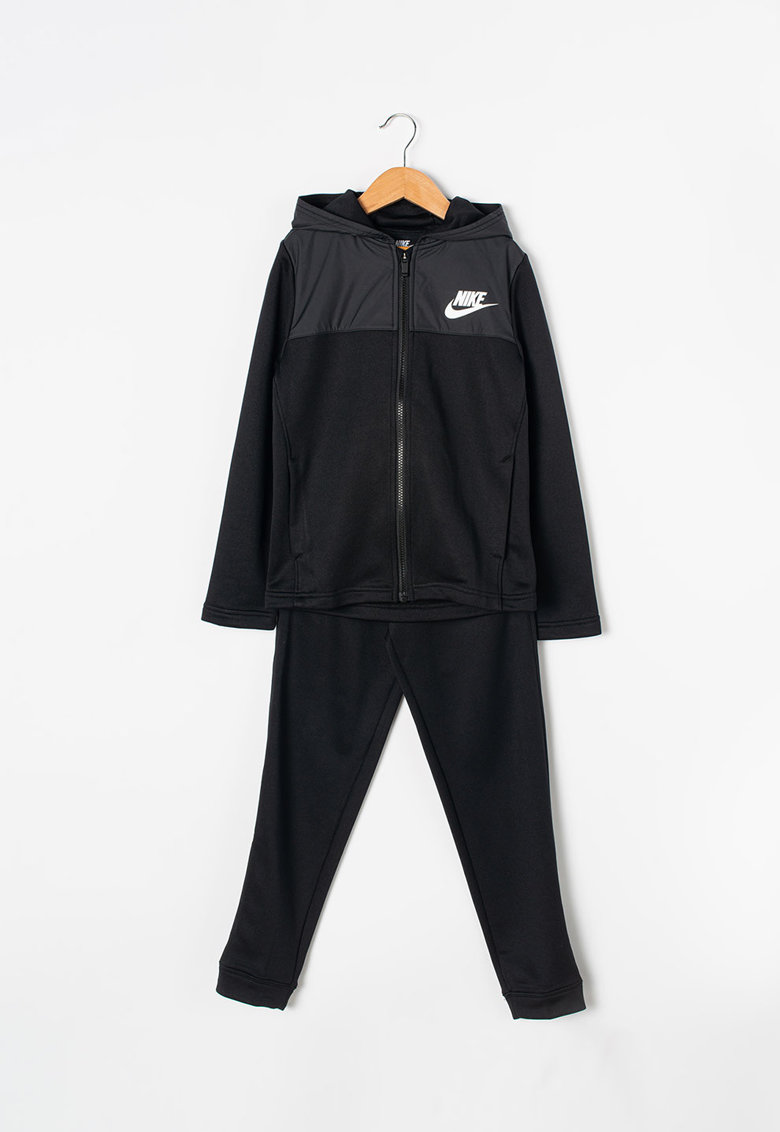 Nike Trening cu imprimeu logo si gluga
