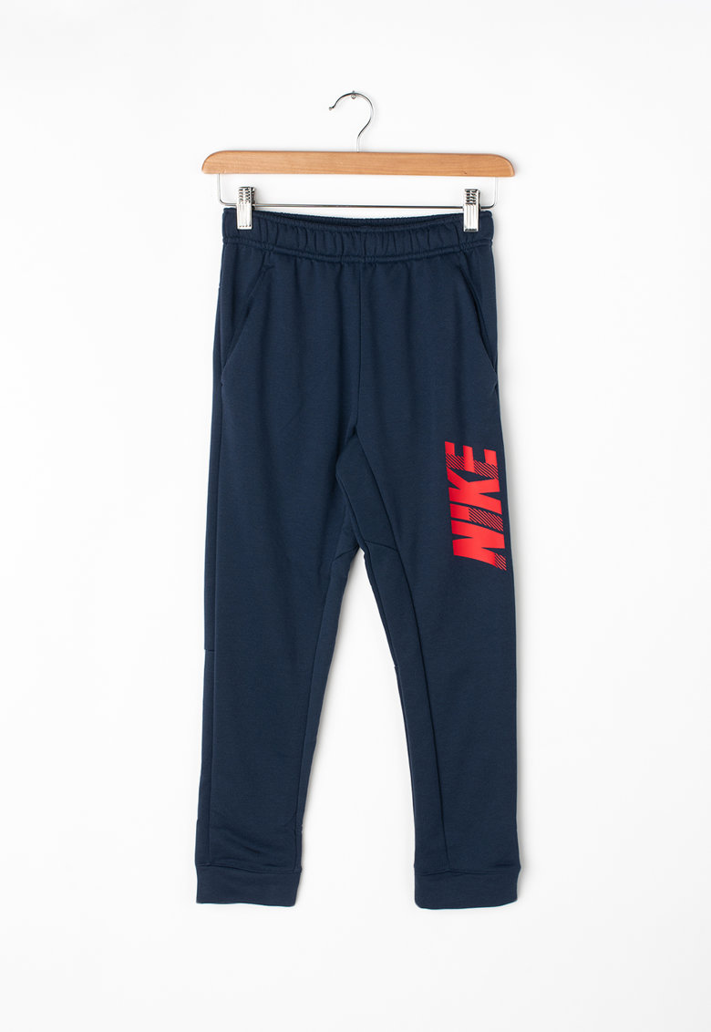 Nike Pantaloni sport cu Dri-Fit si imprimeu logo - pentru antrenament