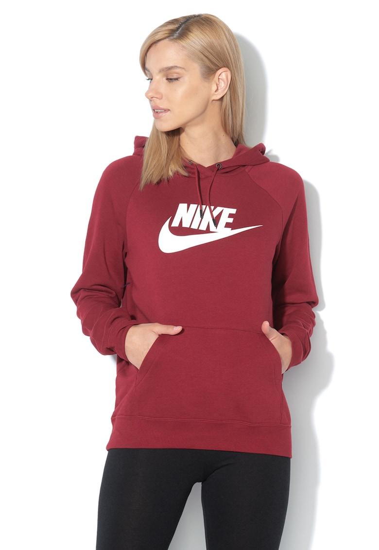 Hanorac cu imprimeu logo si buzunar kangaroo Nike
