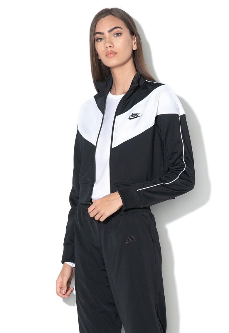 Bluza sport crop cu fermoar de la Nike