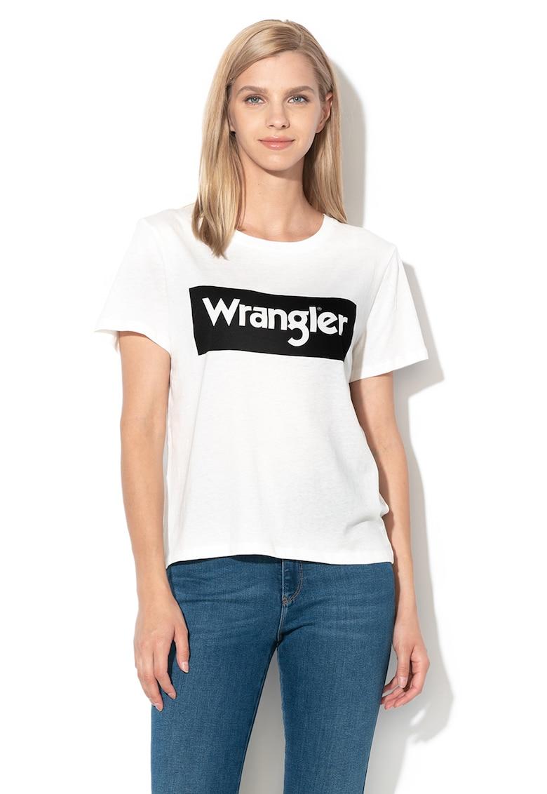 Tricou din bumbac cu imprimeu logo de la Wrangler
