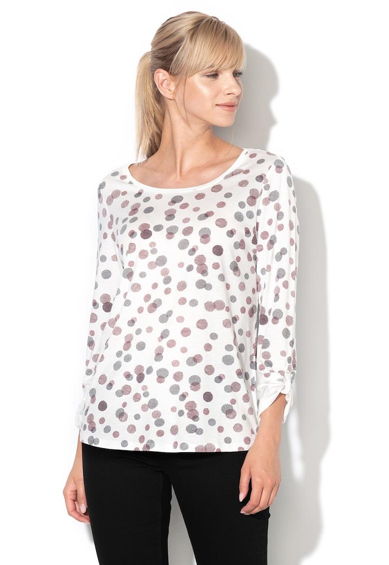 Bluza din amestec de modal cu benzi pentru ajustare de la Esprit