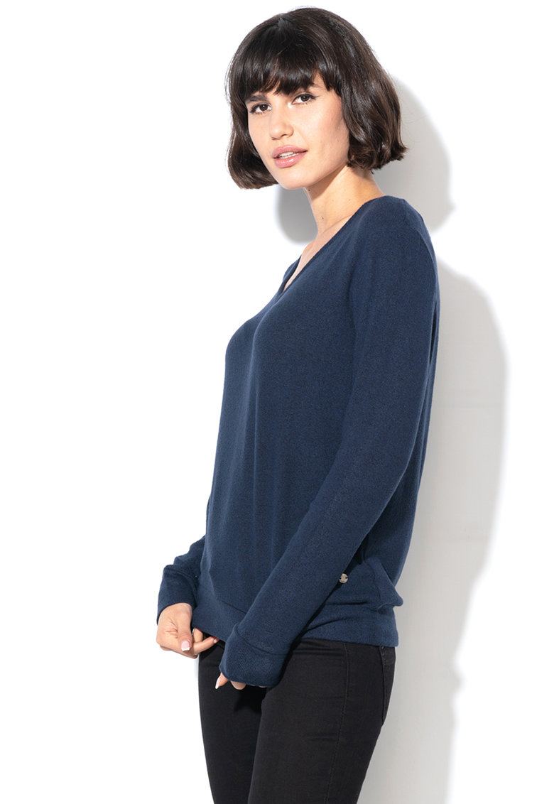 Pulover din tricot fin cu decolteu in V de la Esprit