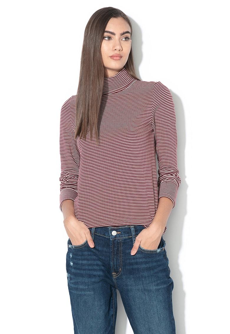 Bluza cu model in dungi si guler inalt de la Esprit