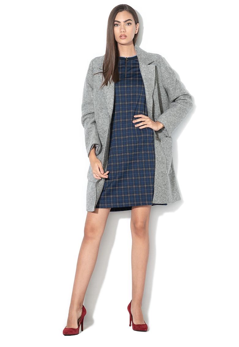 Palton din amestec de lana cu nasturi de la EDC by Esprit