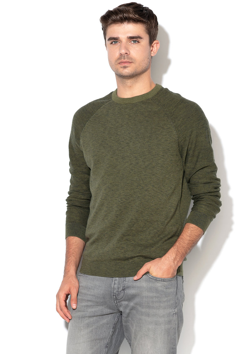 Pulover din tricot fin cu maneci raglan de la Esprit