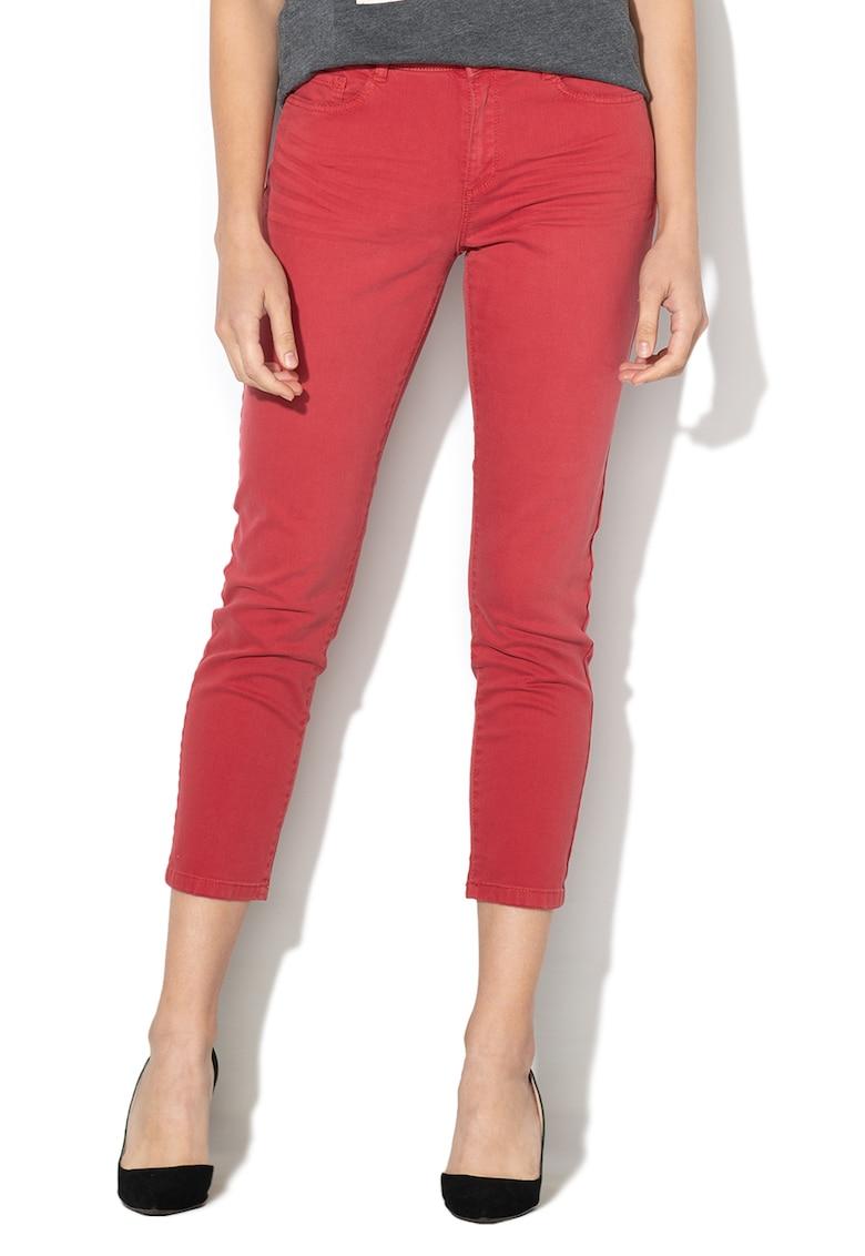 Esprit Pantaloni crop cu croiala conica
