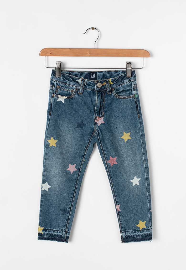 GAP Blugi slim fit cu imprimeu cu stele