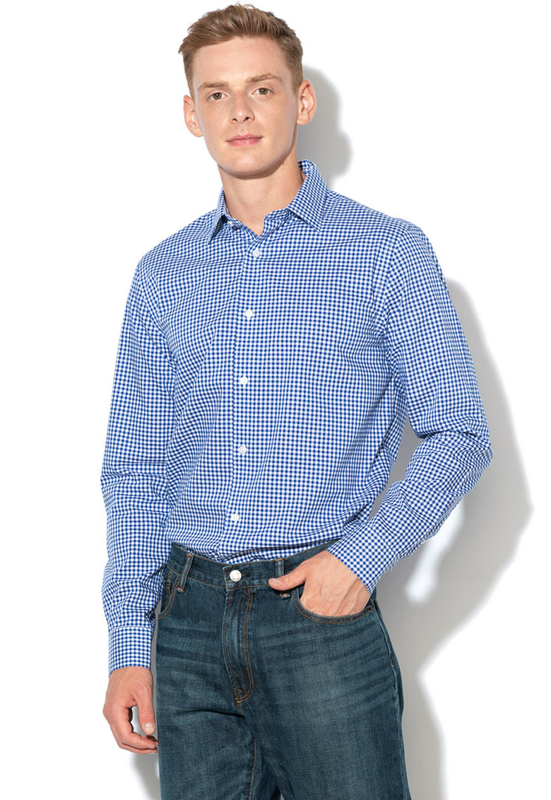 Camasa slim fit cu model gingham de la Banana Republic