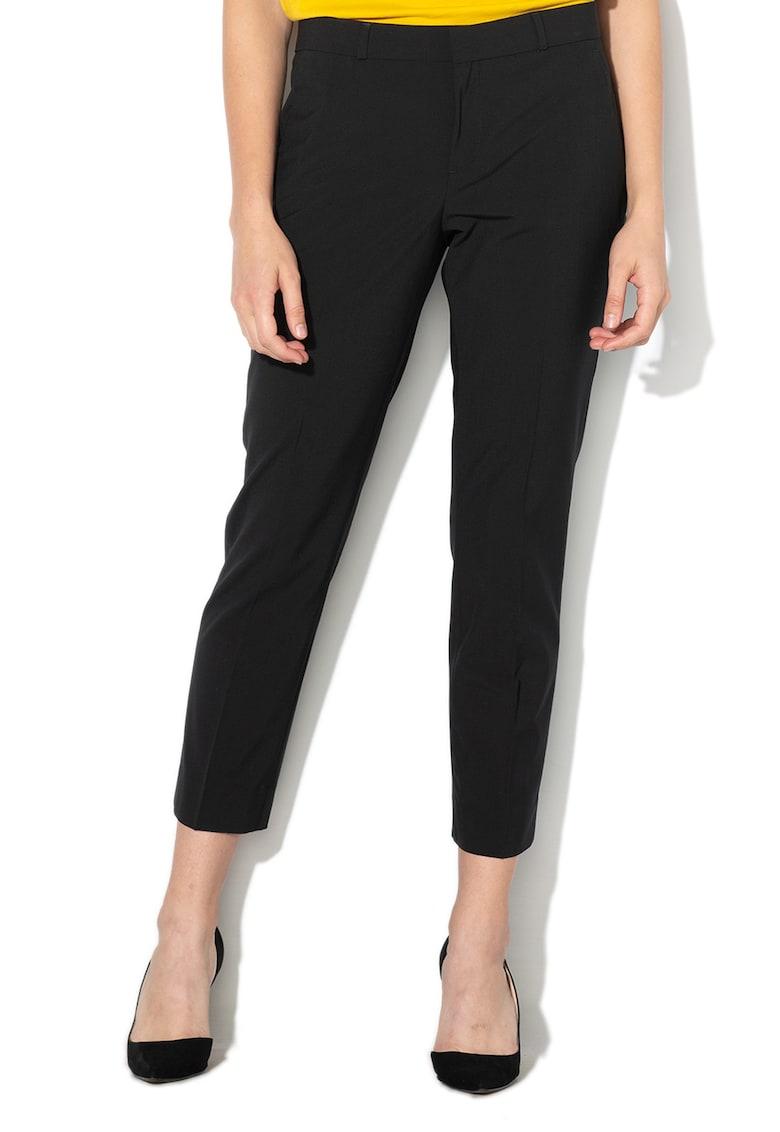 Pantaloni conici din amestec de lana Avery