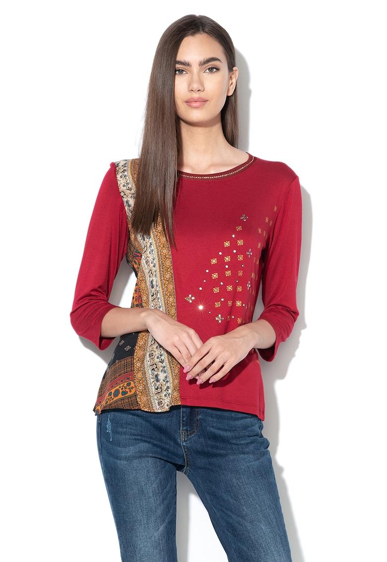 Bluza cu model floral si strasuri DESIGUAL