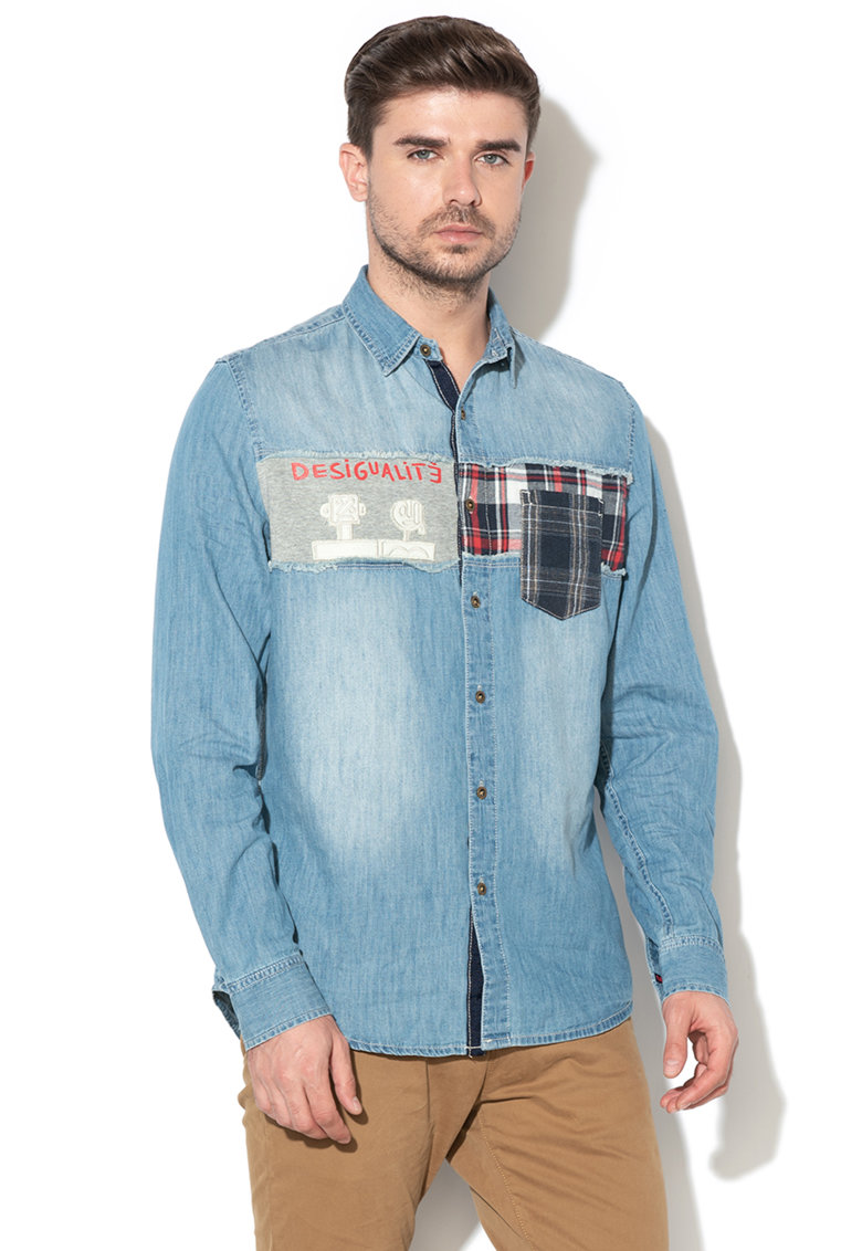 DESIGUAL Camasa regular fit din denim Caetano