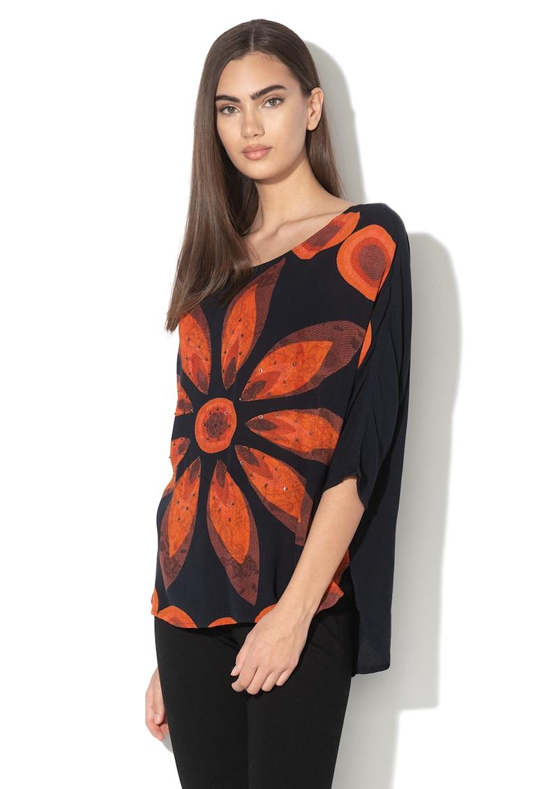 Bluza lejera cu imprimeu floral Laura DESIGUAL