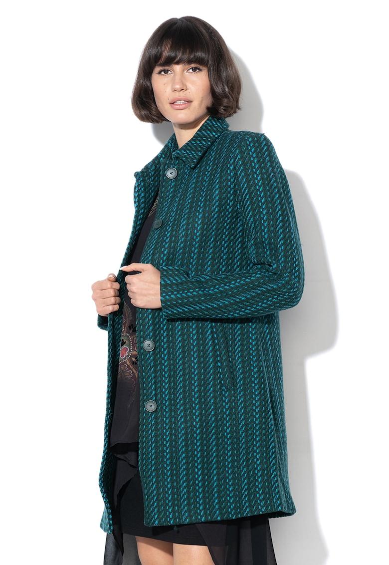 Palton din amestec de lana cu nasturi Noa DESIGUAL
