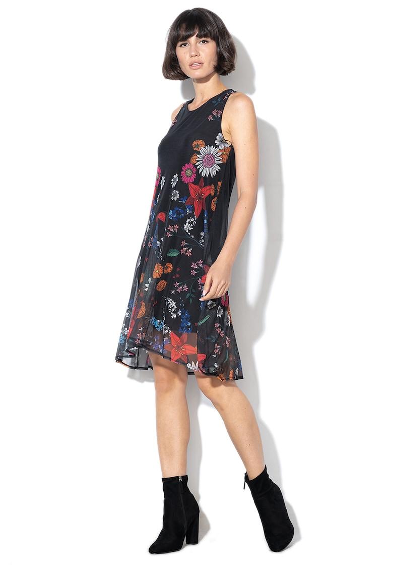 Rochie mini cu imprimeu floral Francine DESIGUAL
