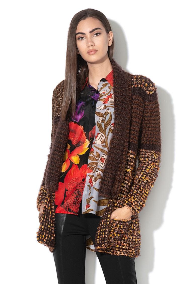 Cardigan din tricot gros cu insertii de fir stralucitor Oslo