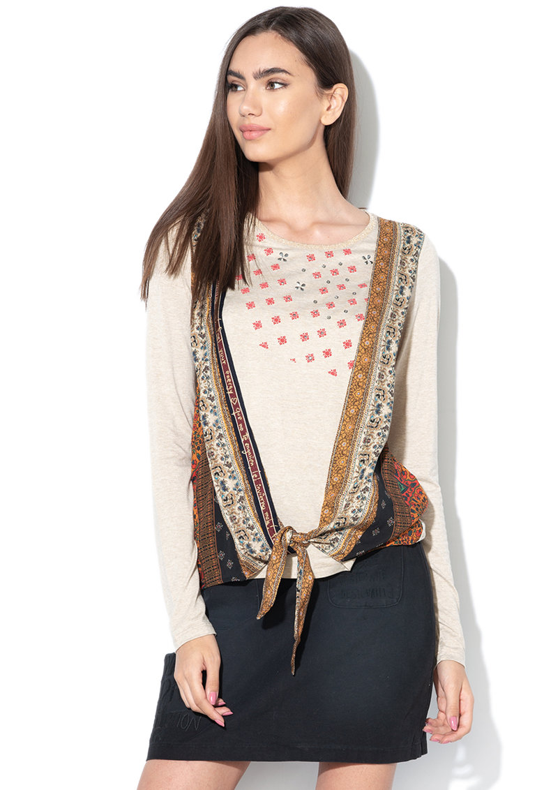 DESIGUAL Bluza cu decoratiuni Yan