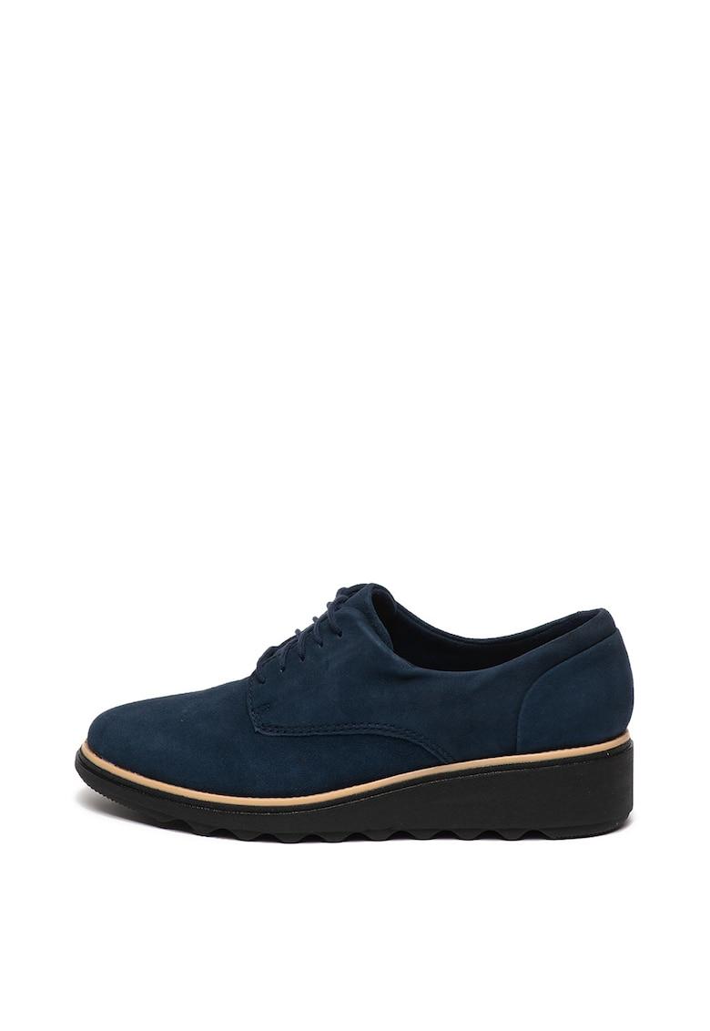 Pantofi casual de piele intoarsa cu talpa wedge Sharon Noel de la Clarks