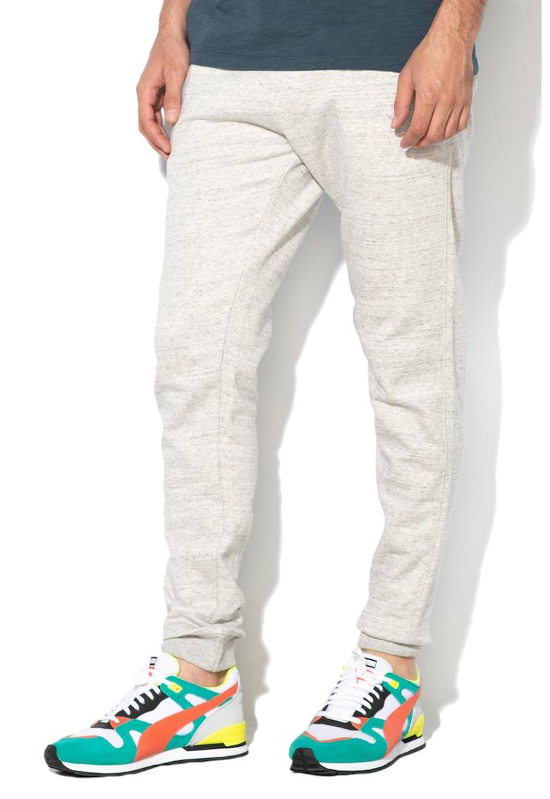 Pantaloni sport cu snur in talie si captuseala din fleece poza fashiondays
