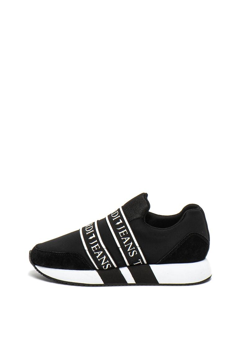 Pantofi sport slip-on - de piele intoarsa - cu logo Runner