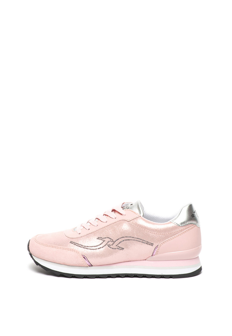 Pantofi sport cu aspect stralucitor