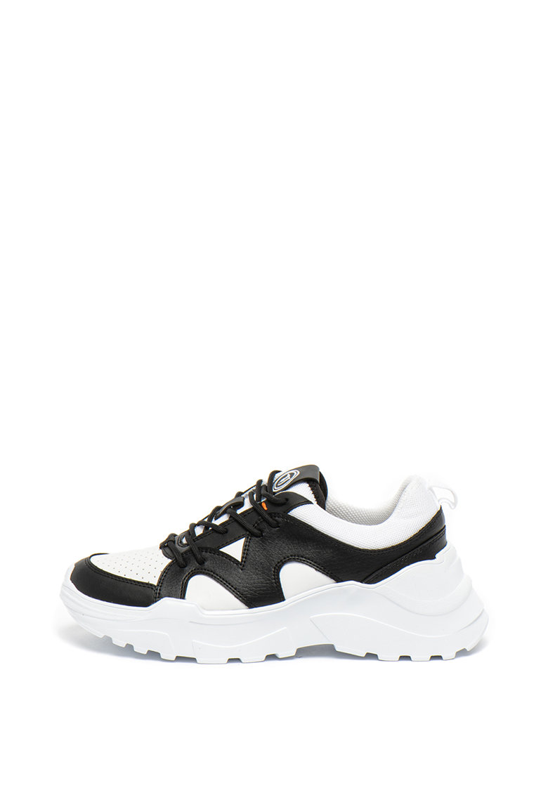 Pantofi sport cu talpa masiva si model colorblock Runner
