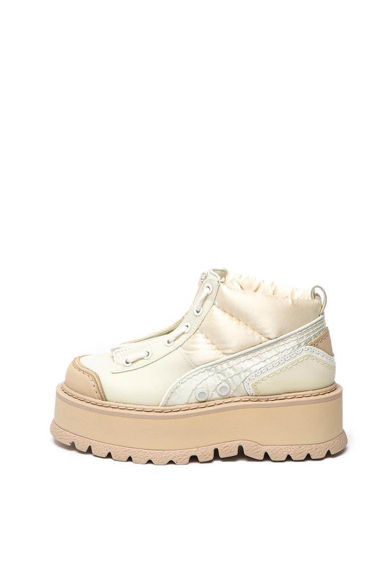 Puma Cizme flatform de piele ecologica si material textil Fenty x Puma