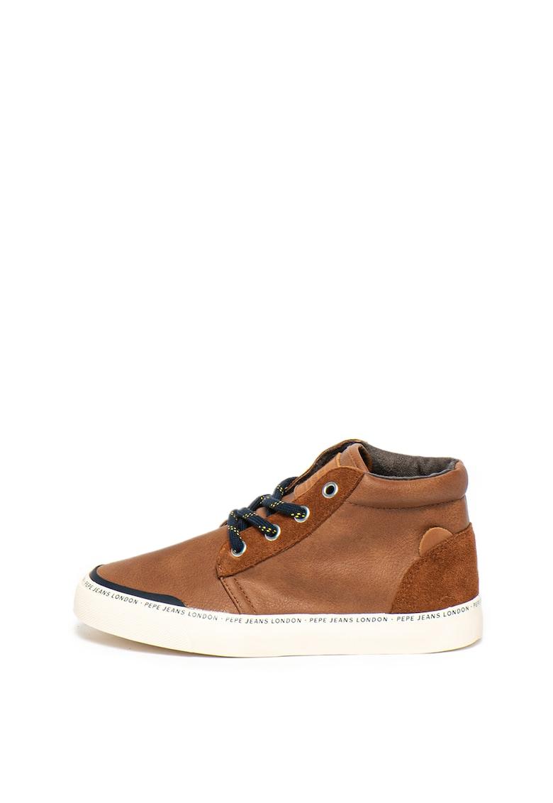 Pantofi sport mid-high cu insertii de piele Traveler