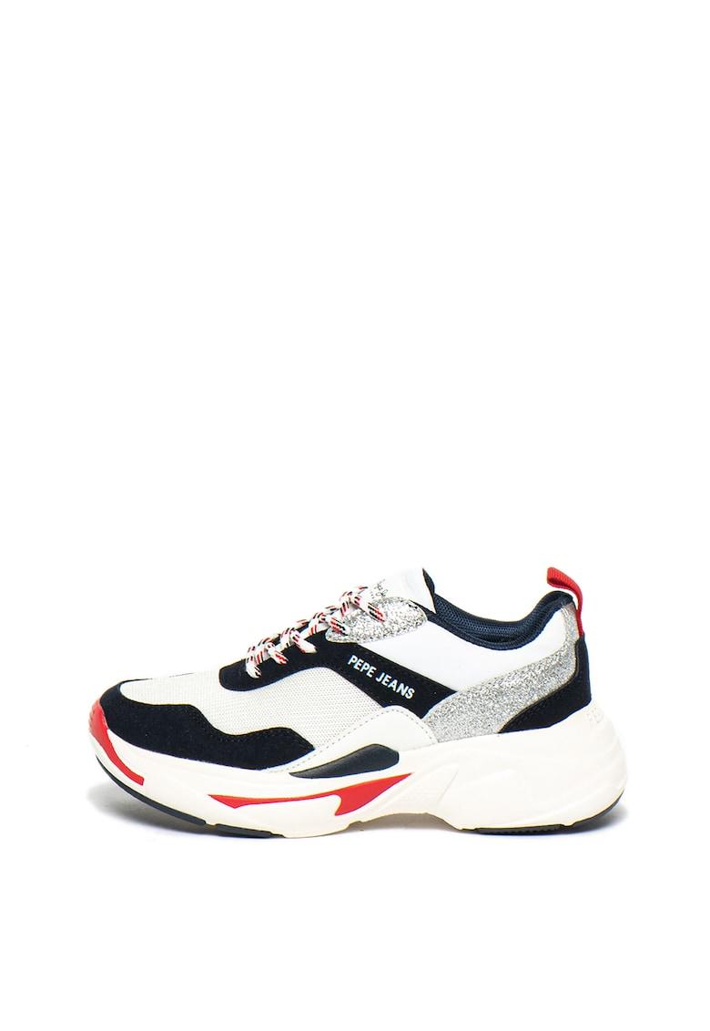 Pantofi sport cu detalii stralucitoare Sinyu Action Pepe Jeans London