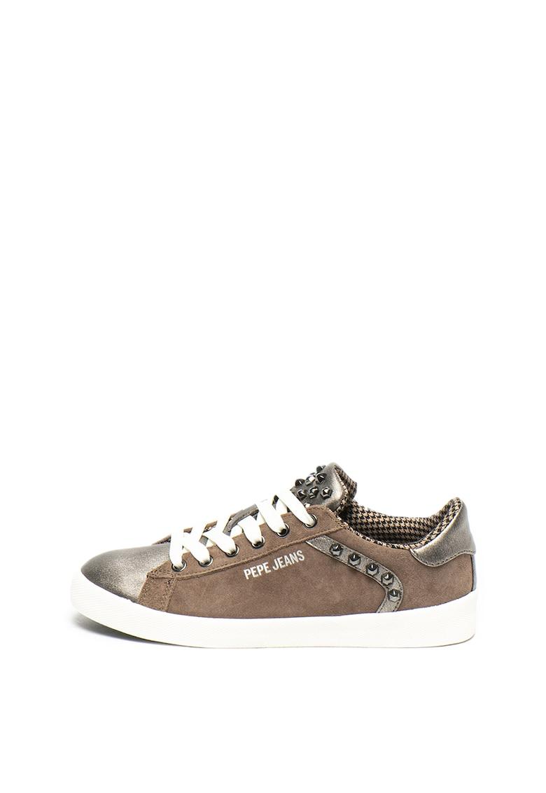 Pantofi sport din piele intoarsa cu detalii de piele ecologica Kioto Rock