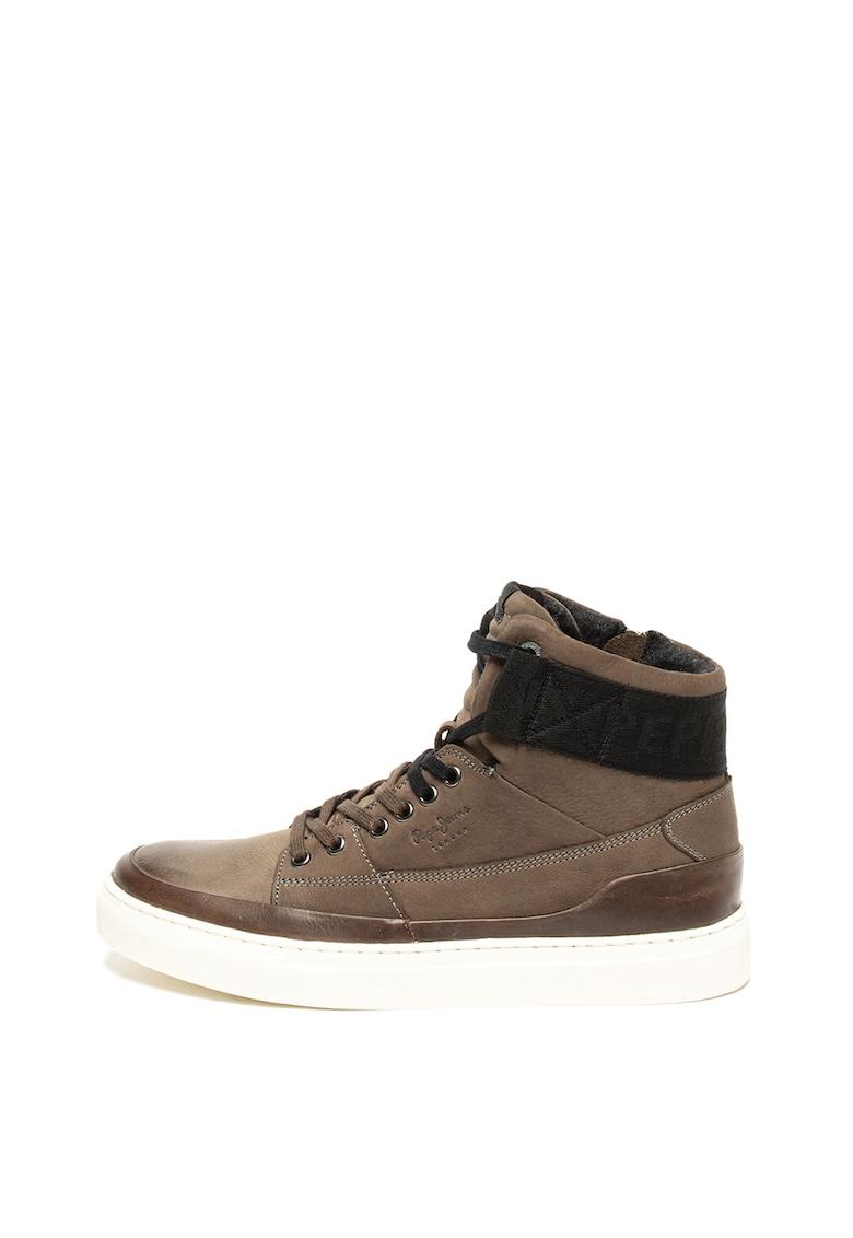 Pantofi sport mid-high din piele nabuc MLT