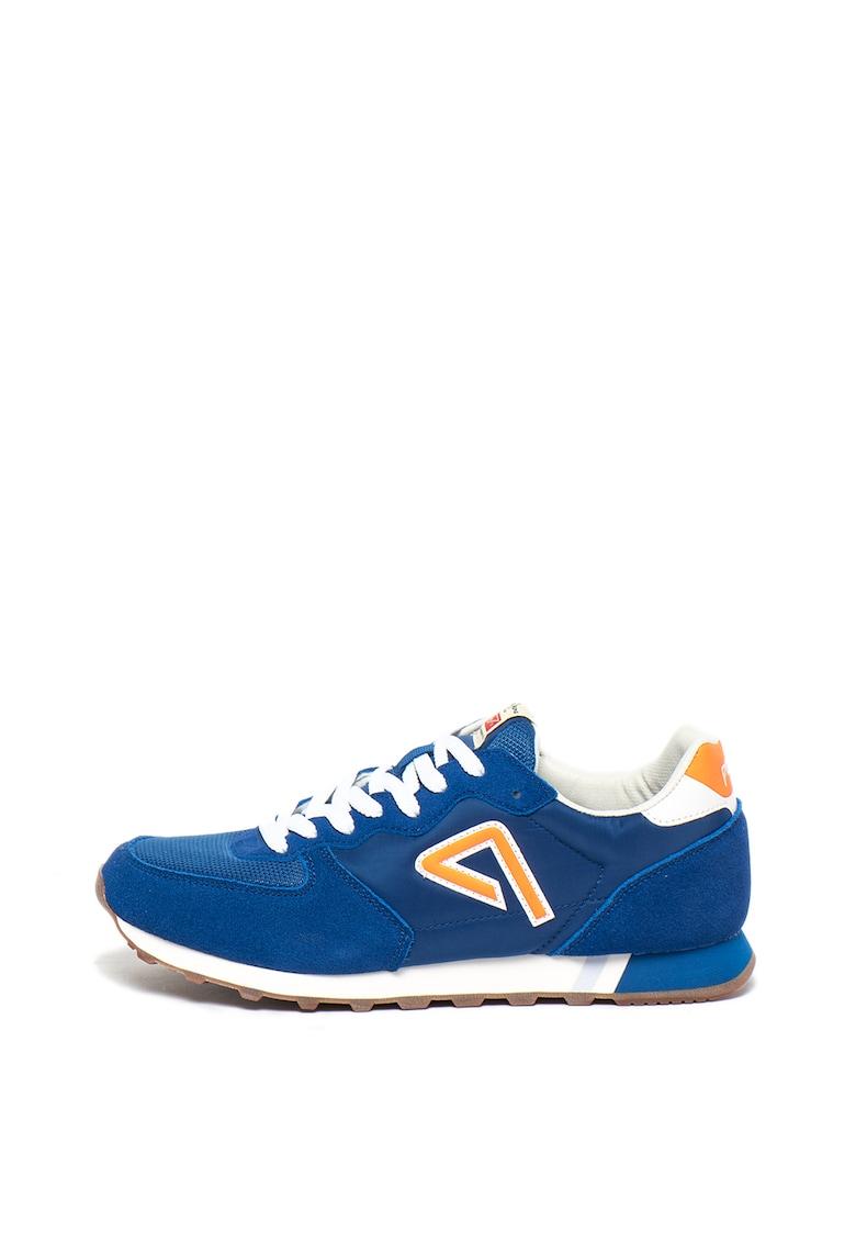 Pantofi sport cu insertii de piele intoarsa si logo Klein Archieve