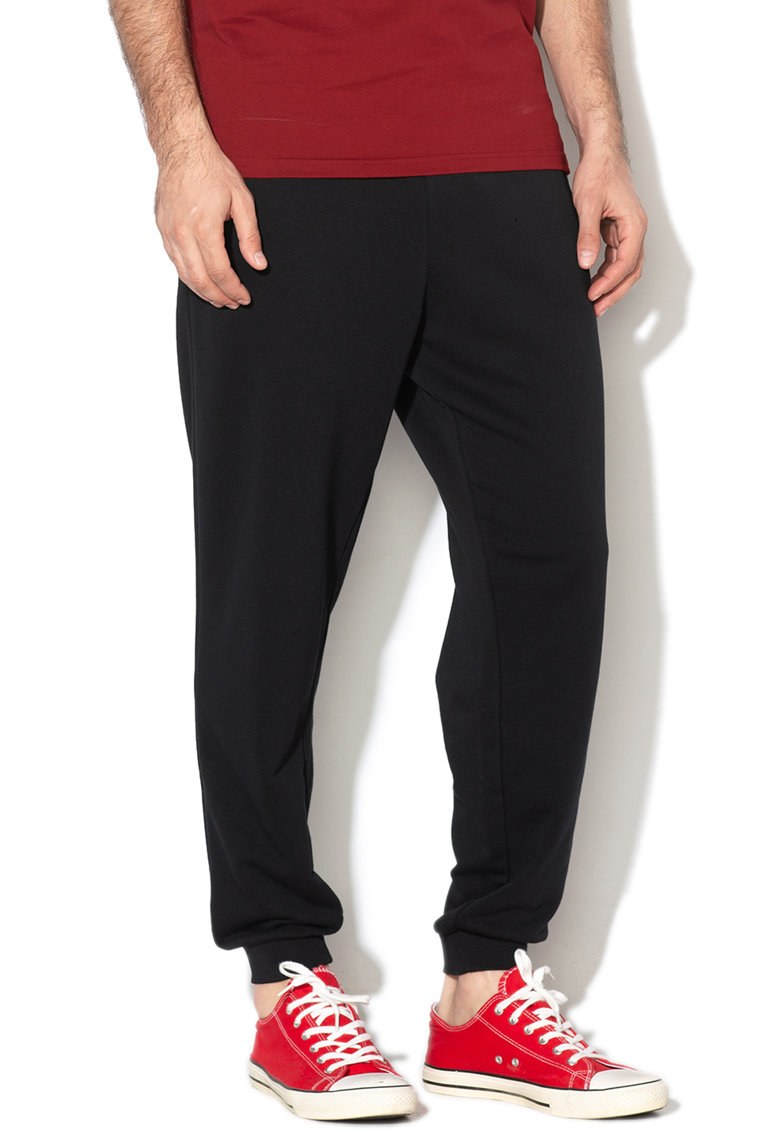 Pantaloni sport cu snur si imprimeu grafic Nova Converse