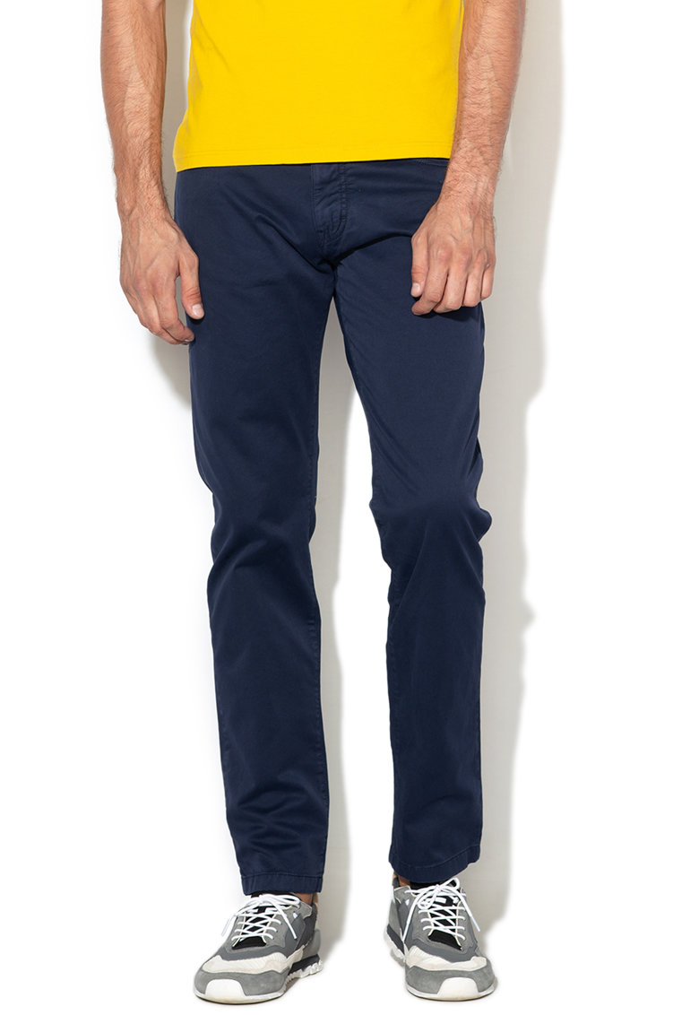Pantaloni slim fit de bumbac
