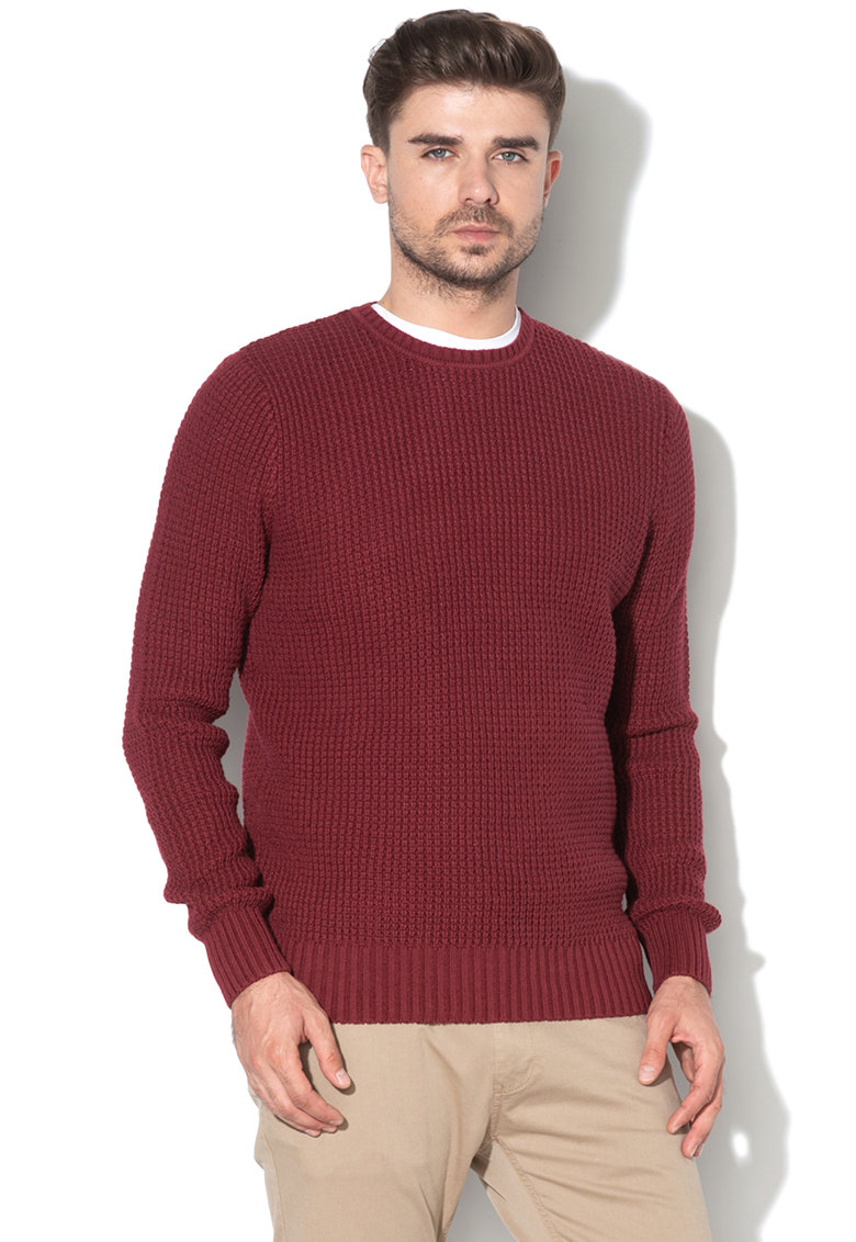 Pulover texturat din amestec de lana