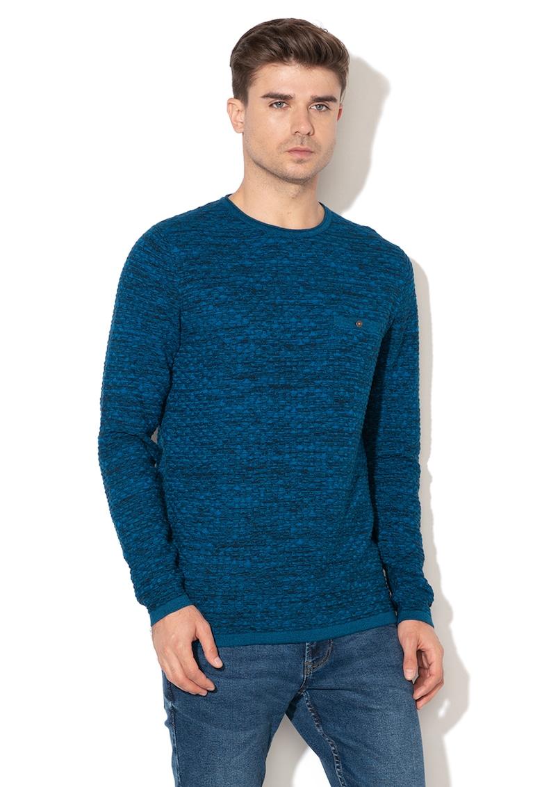 Bluza cu decolteu la baza gatului si aspect texturat imagine fashiondays.ro Tom Tailor