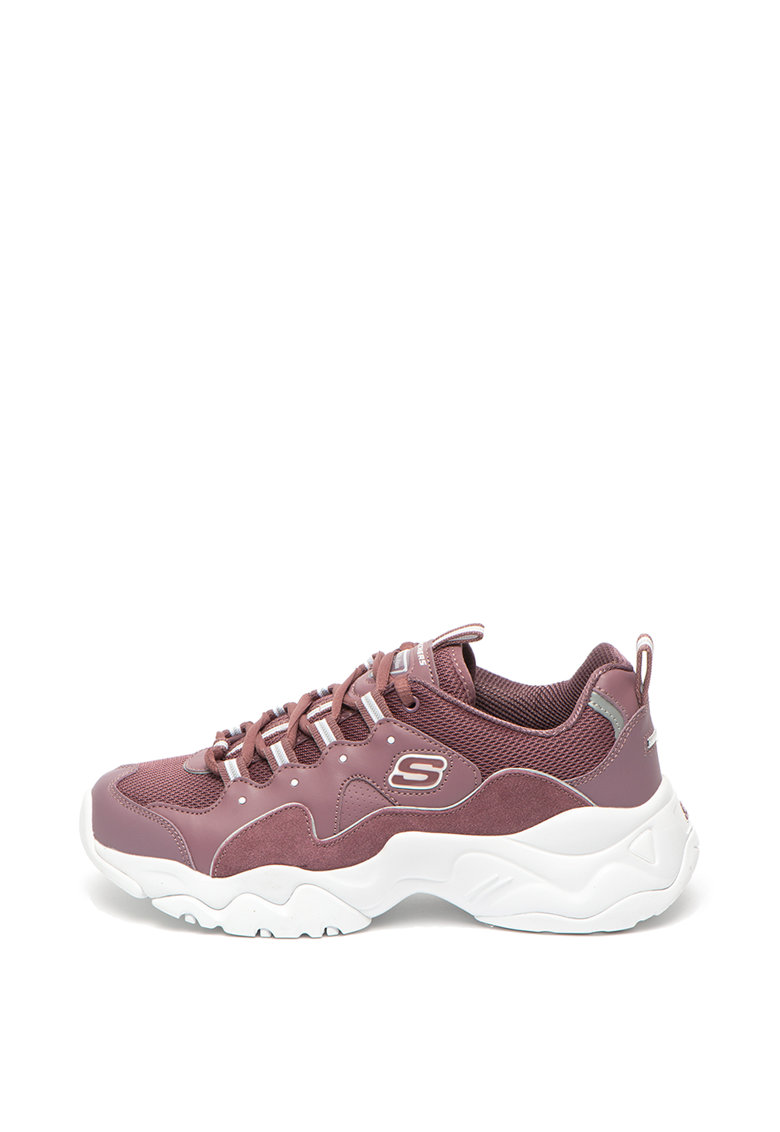 Pantofi sport cu aspect lacuit Basket Heart 2