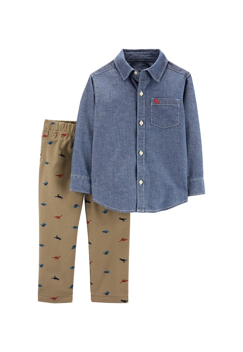 Set de camasa din chambray si pantaloni - 2 piese imagine fashiondays.ro