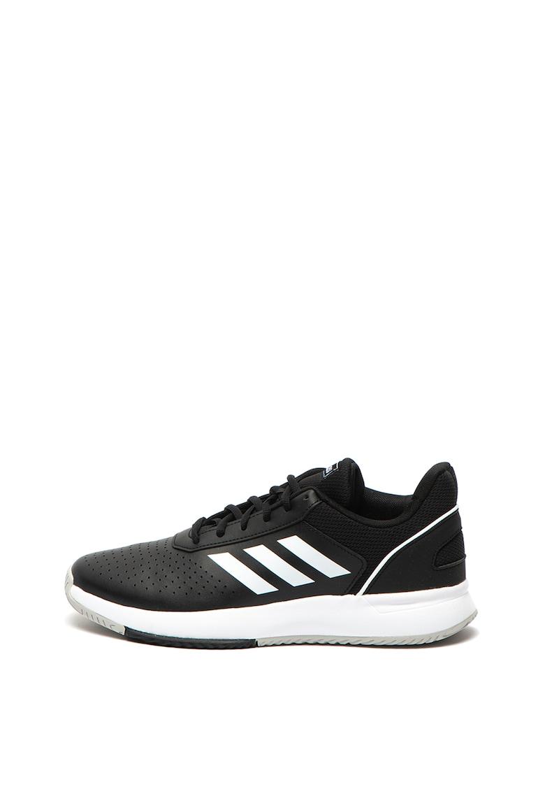 Pantofi sport de piele cu perforatii Courtsmash imagine