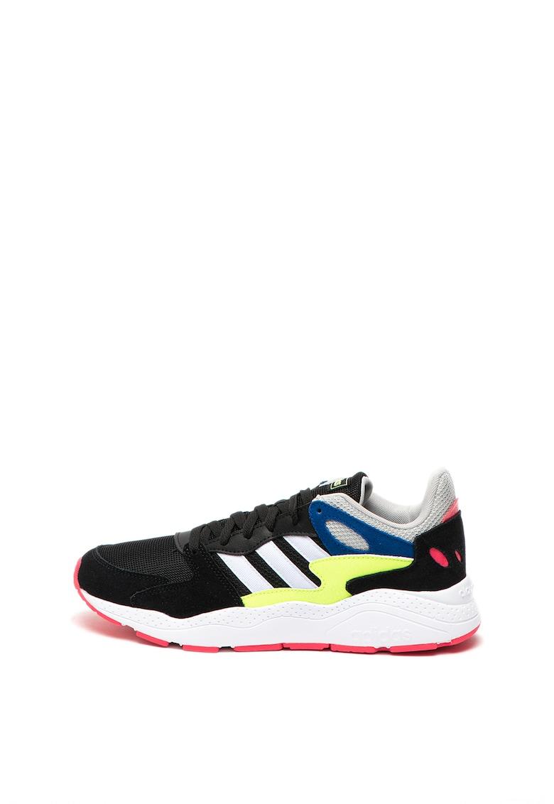 Adidas PERFORMANCE Pantofi sport cu garnituri de piele si piele intoarsa - pentru alergare Chaos