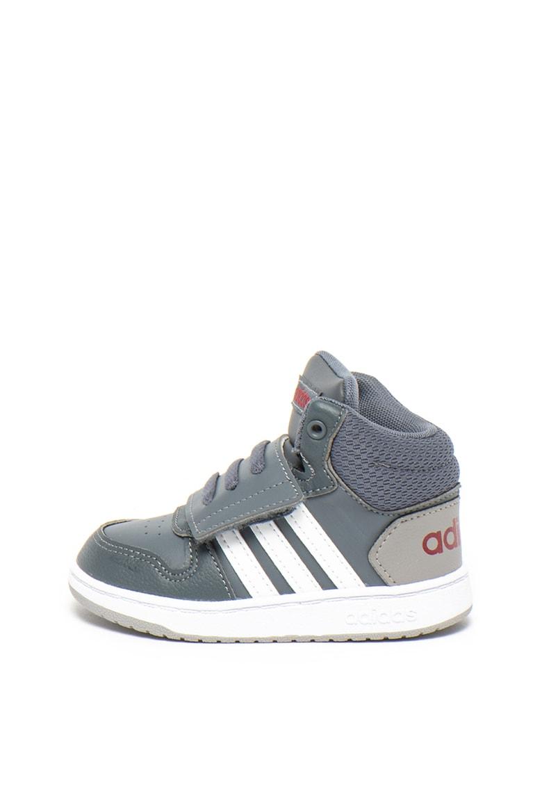 Pantofi sport mid-high de piele ecologica cu velcro Hoops de la Adidas PERFORMANCE
